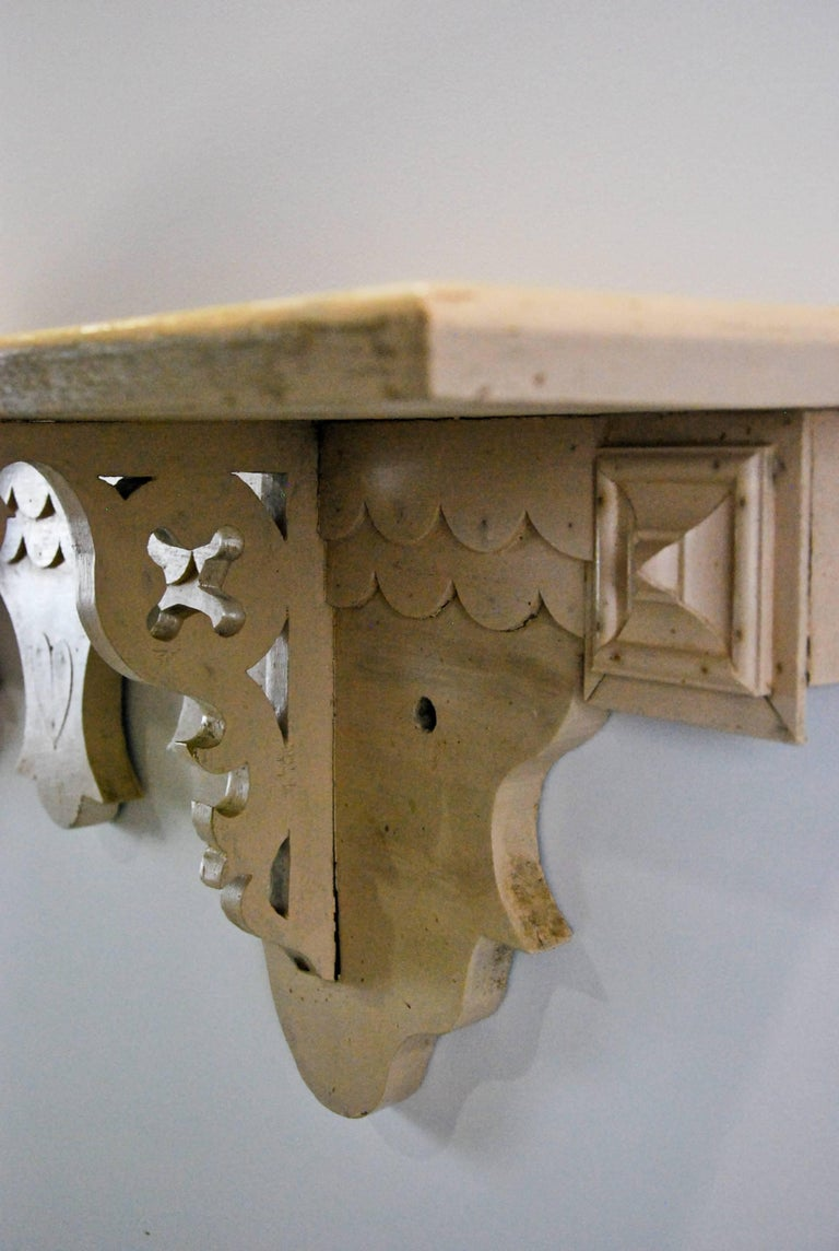 19th Century Carved Wooden Folk Art Shelf At 1stdibs