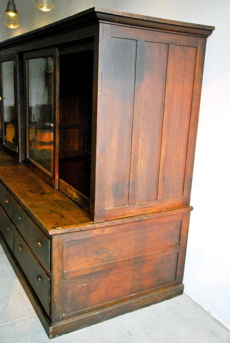 19th century large store display storage cabinet at 1stdibs. Black Bedroom Furniture Sets. Home Design Ideas
