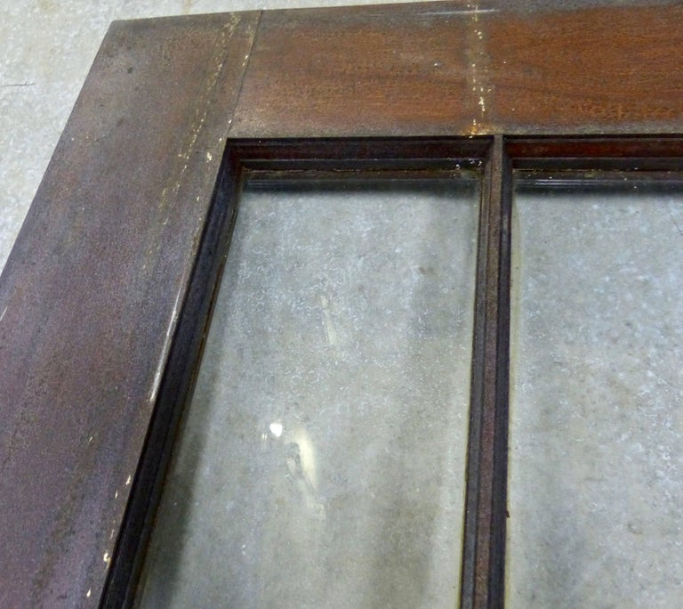 Arts and Crafts Antique Oak French Doors from an Institution in New York For Sale