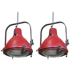 1950 Large Pair of Westinghouse Floodlights