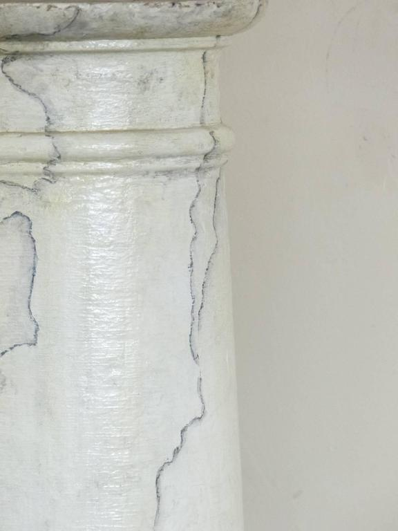 Canadian 1920 Faux Marble Painted Wooden Columns For Sale