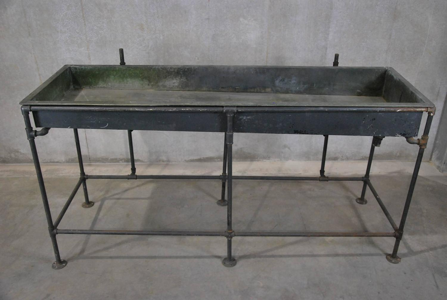 Large Industrial Sink : 1940 Large Monel Lined Industrial Lab Sink at 1stdibs