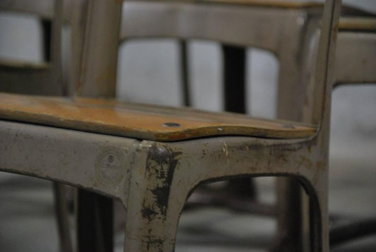 1950 Set Of 6 Children S Industrial School Chairs At 1stdibs