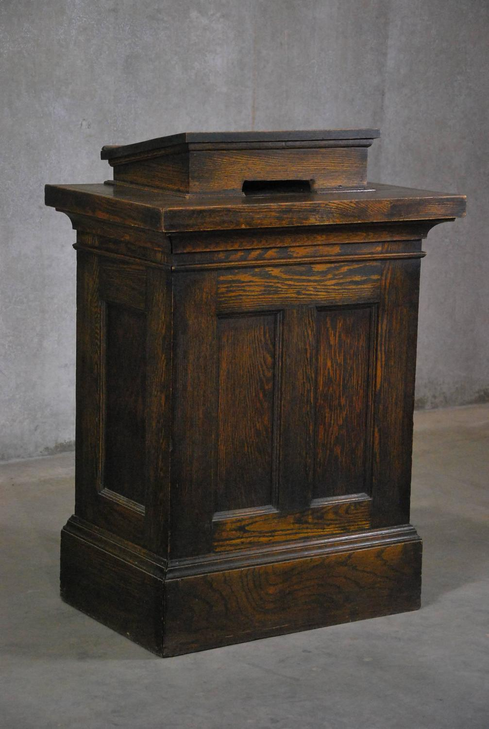 Oak lectern or hostess stand at stdibs