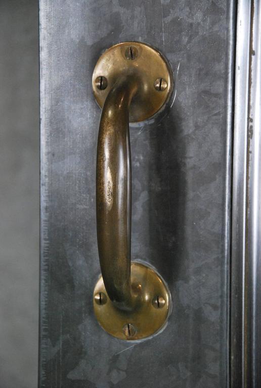 1920 Pair Of Steel Industrial Doors With Original Safety