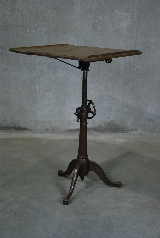 1910 Cast Iron Adjustable Drafting Table At 1stdibs
