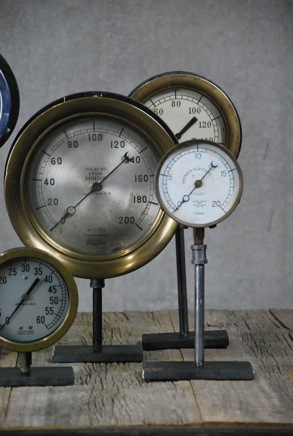 Fork Lift Gauge : Vintage industrial gauges at stdibs