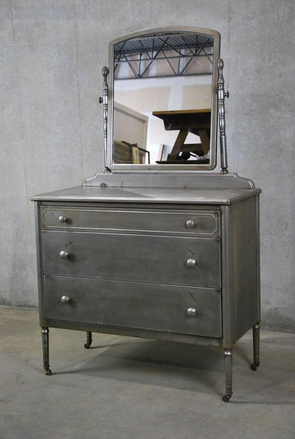 1930 Simmons Metal Low Boy Dresser At 1stdibs