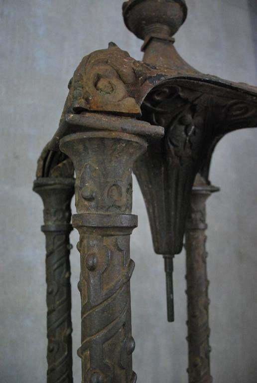 American 19th Century Cast Iron Outdoor Fountain by J.L. Mott, NYC For Sale