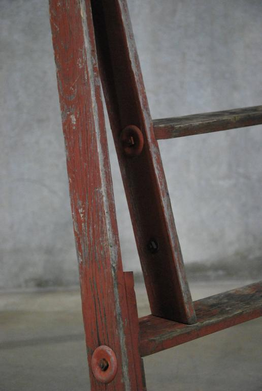 1940 Wooden Orchard Ladder in Old Paint For Sale at 1stdibs