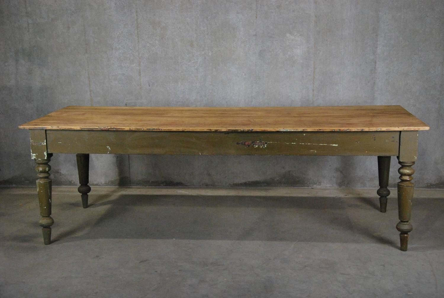 19th Century Original Country Farm Table at 1stdibs