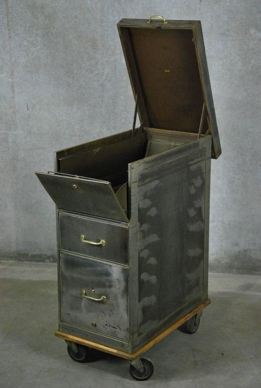1930 Lift Top Metal Industrial Filing Cabinet At 1stdibs