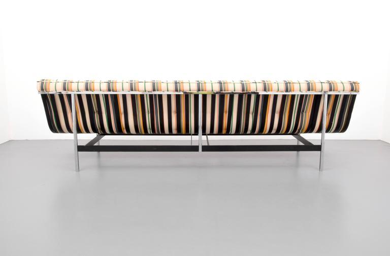 "Long ""New York"" sofa, model #8-FC, by William Katavolos, Ross Littell & Douglas Kelley for Laverne International. Reference: Laverne International Manufacturer Catalog, unpaginated."