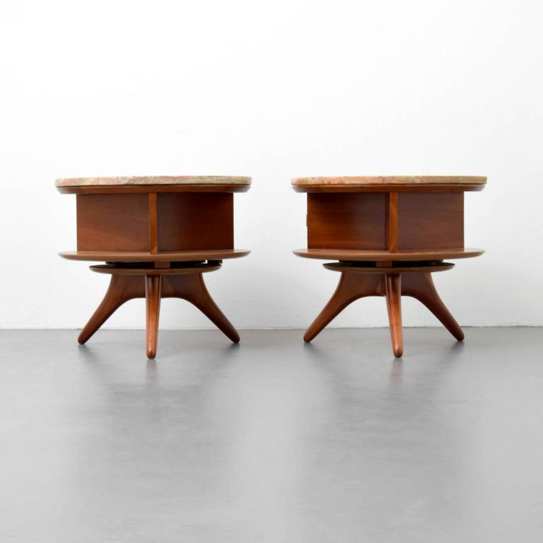 Pair Of Rare And Early Nightstands Or End Tables By Vladimir Kagan. Tables  Are On
