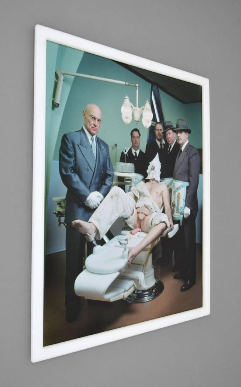 Work is from the third Cremaster series, titled I Die Daily by Matthew Barney (b. 1967). Work is flush mounted to Plexiglass, in original acrylic frame. An example of this work was exhibited at the Solomon R. Guggenheim Museum Matthew Barney: The