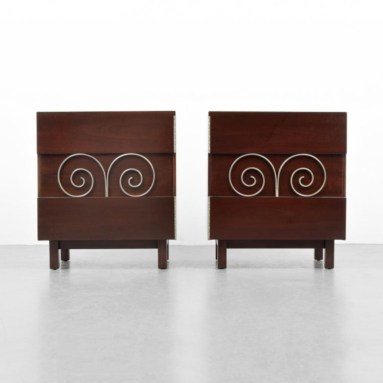 Mid-Century Modern Pair of Edmond Spence Cabinets or Nightstands For Sale