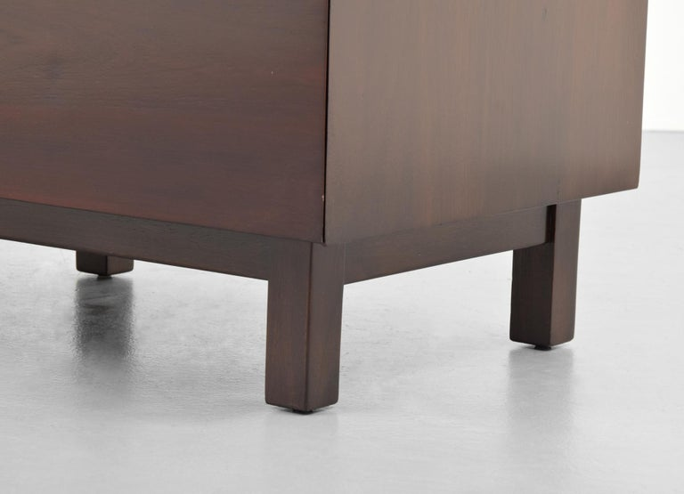 Metal Pair of Edmond Spence Cabinets or Nightstands For Sale