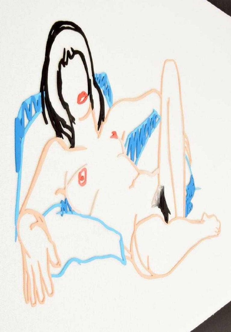 American Tom Wesselmann Monica Lying on Blanket Sculpture For Sale
