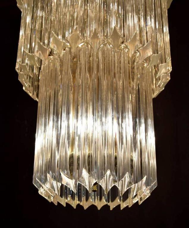 Italian Monumental Camer Glass Chandelier For Sale