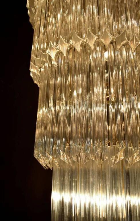 Monumental Camer Glass Chandelier In Good Condition For Sale In West Palm Beach, FL