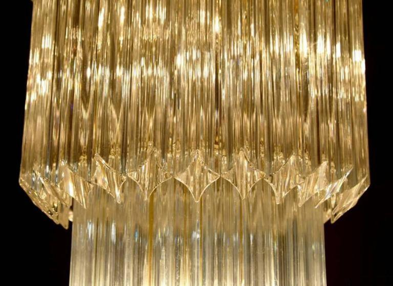 20th Century Monumental Camer Glass Chandelier For Sale