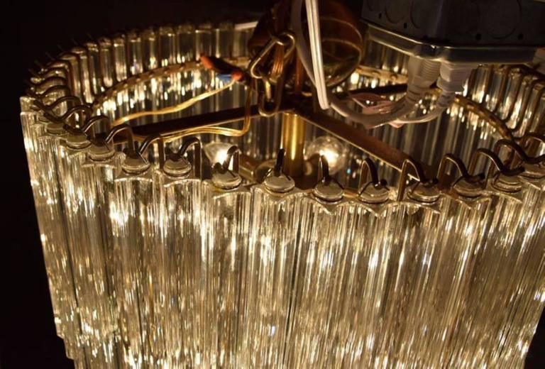 Metal Monumental Camer Glass Chandelier For Sale