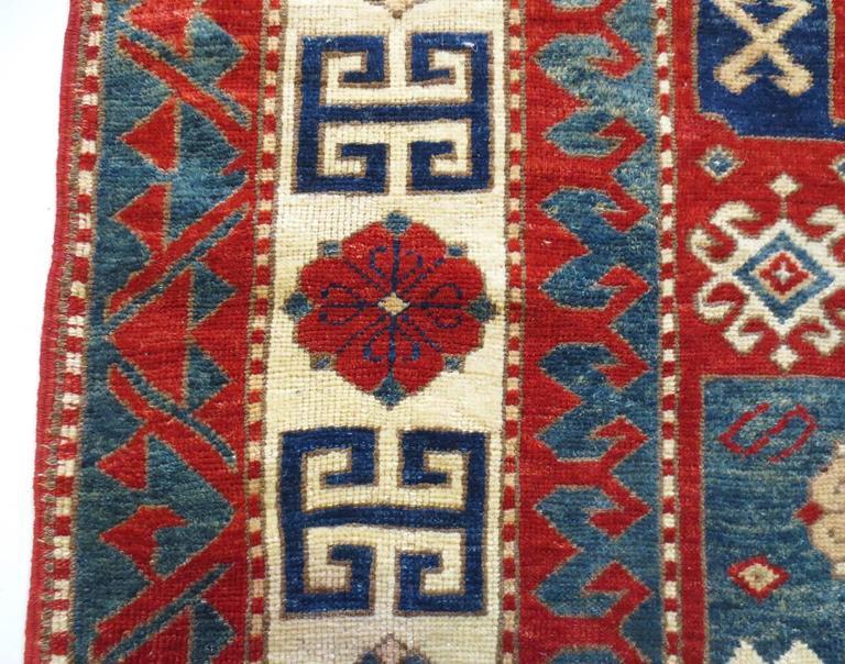 19th Century Pinwheel Kazak Inspired Rug 4