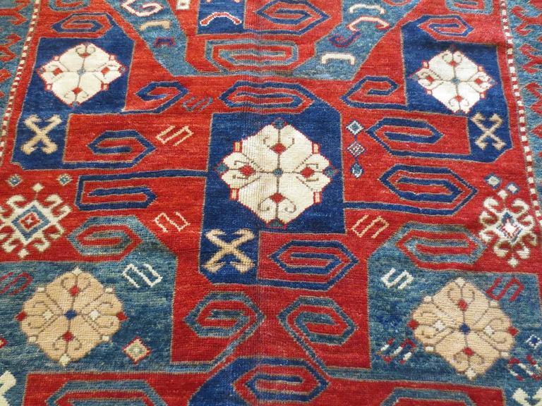 19th Century Pinwheel Kazak Inspired Rug 2