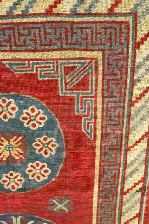 Antique Samarkand Rug, circa 1900s In Fair Condition For Sale In Los Angeles, CA