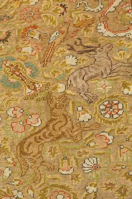 Antique Turkish Silk Kaiseri Rug, circa 1880s 6