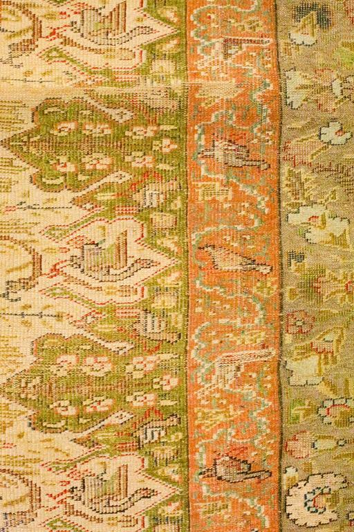 Antique Turkish Silk Kaiseri Rug, circa 1880s 7