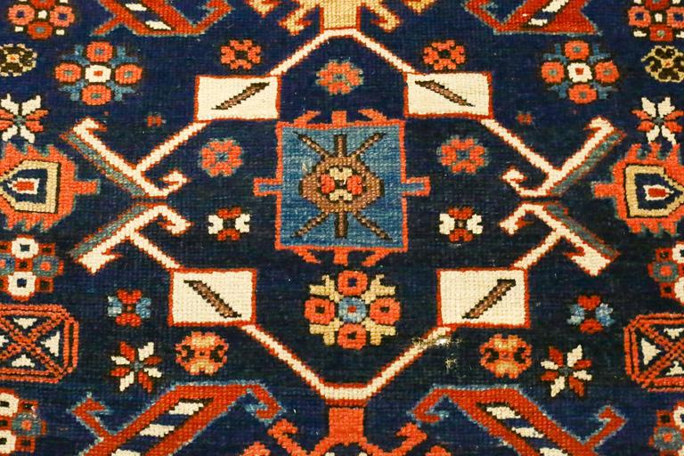 Antique Caucasian Kazak Runner, circa 1870s 3