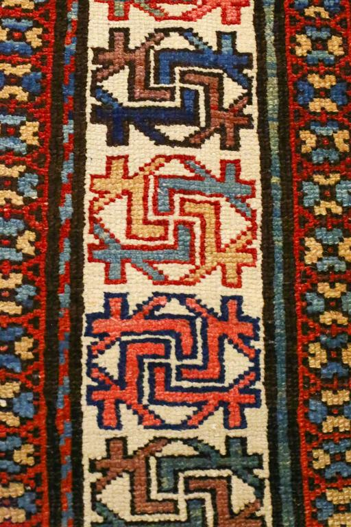 Antique Caucasian Kazak Runner, circa 1870s 5
