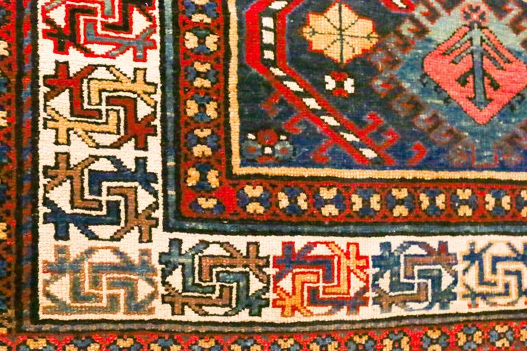 Antique Caucasian Kazak Runner, circa 1870s For Sale 2