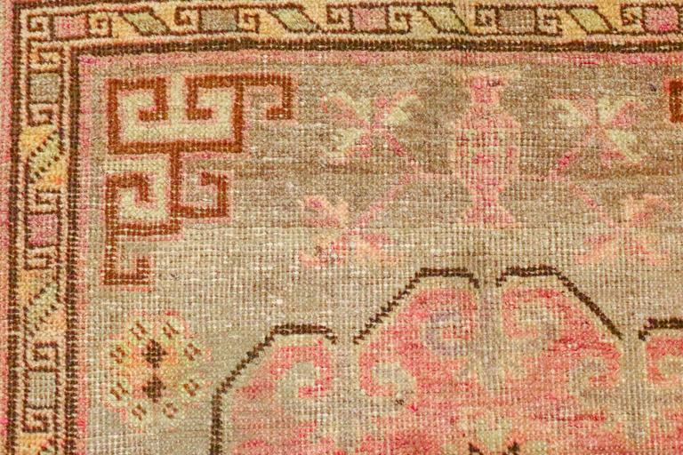 East Turkestani Antique Khotan Rug, circa 1880s For Sale