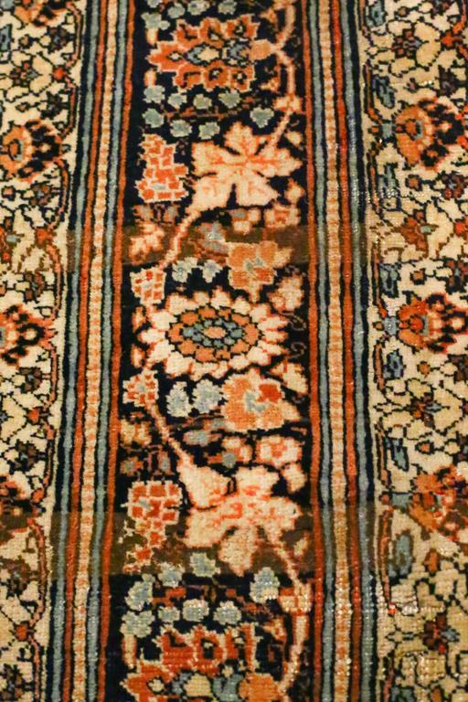 Antique Persian Tabriz Haji Jalili Rug, circa 1880s For Sale 1