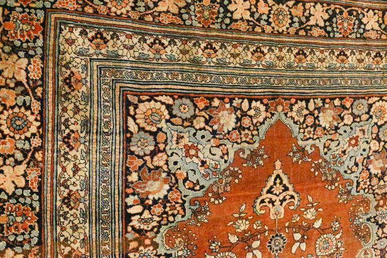 Late 19th Century Antique Persian Tabriz Haji Jalili Rug, circa 1880s For Sale