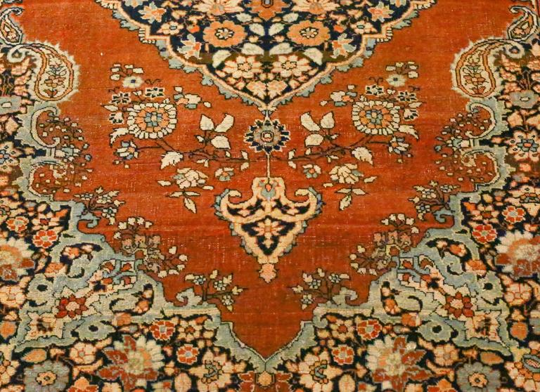 Antique Persian Tabriz Haji Jalili Rug, circa 1880s In Good Condition For Sale In Los Angeles, CA