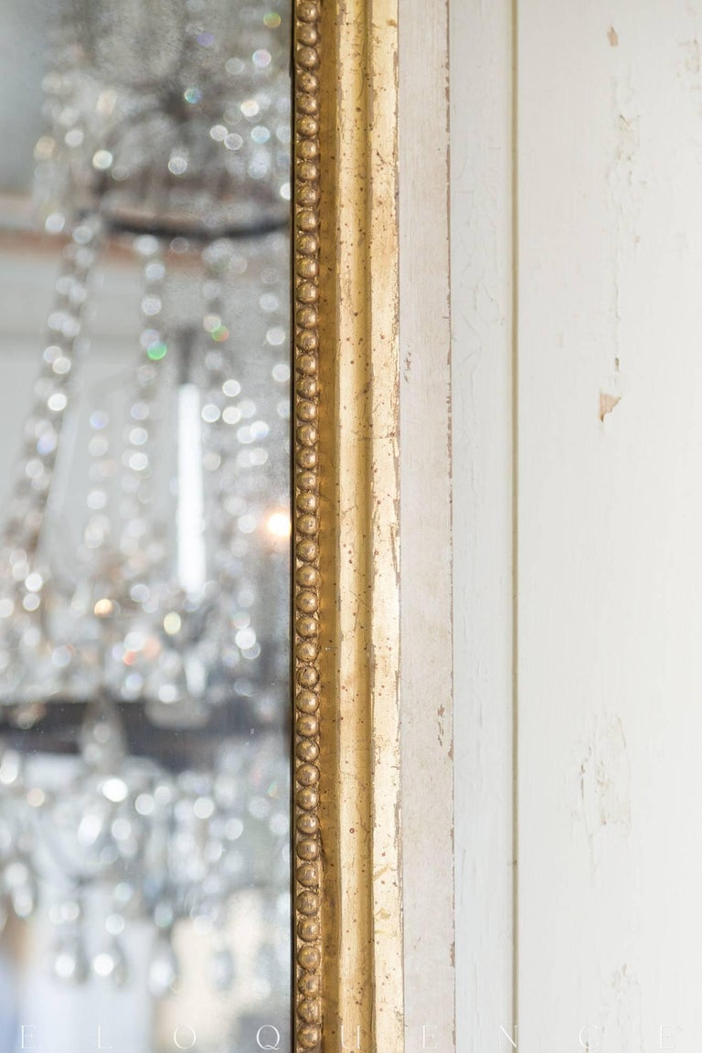 Eloquence® Grande Eugenie Panel Mirror in Toasted Almond and Gold In Excellent Condition For Sale In Los Angeles, CA