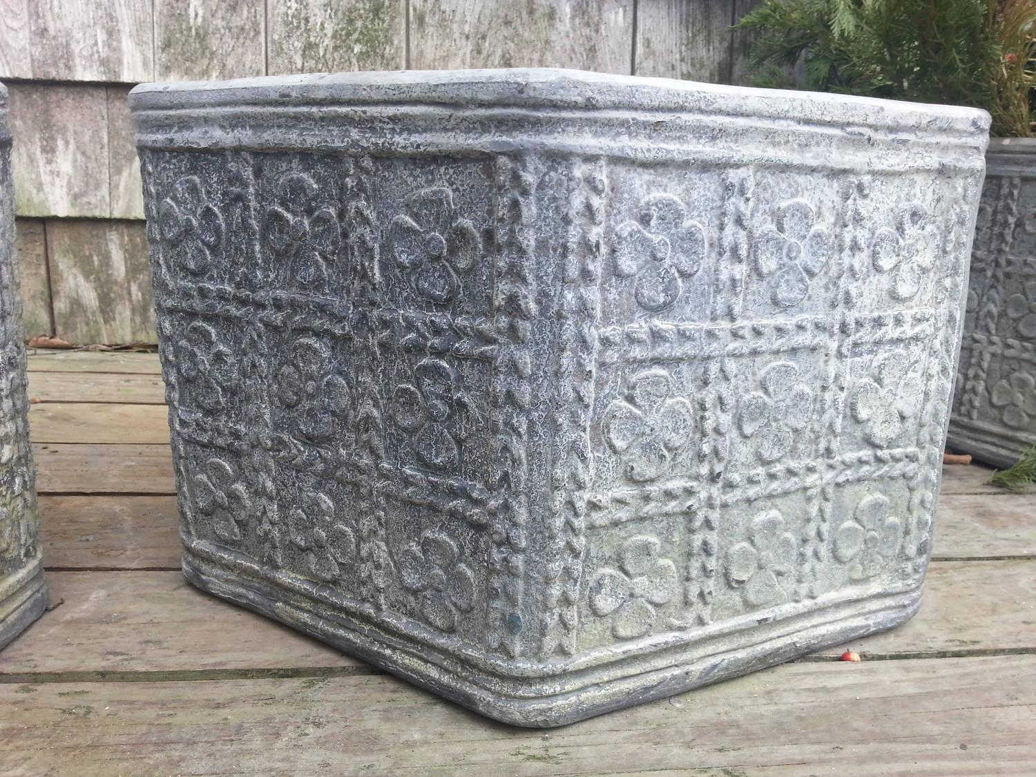 Octagon lead planter for sale at 1stdibs for Lead planters for sale