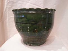 Green glazed Jardiniere