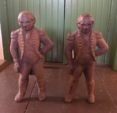 Pair of Early 19th Century Cast Iron George Washington Andirons