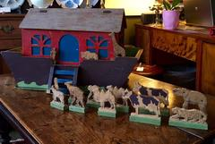 19th Century Hand Crafted Folk Art Noah's Ark