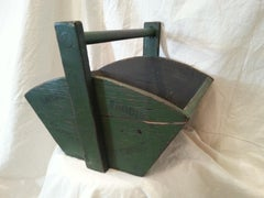Green Wooden Garden Trug