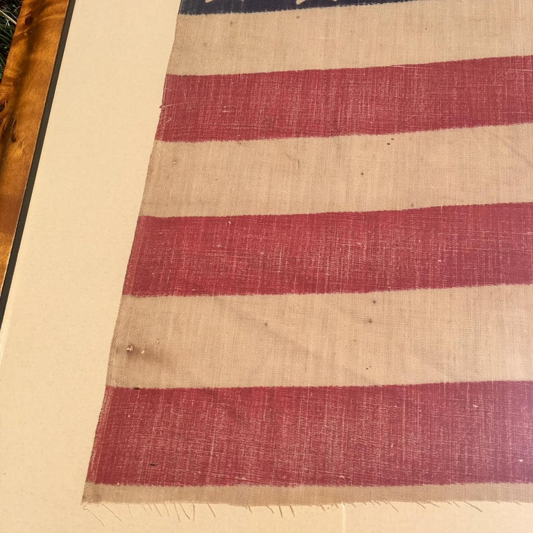 Dyed American 42 Star Flag, circa 1890 For Sale