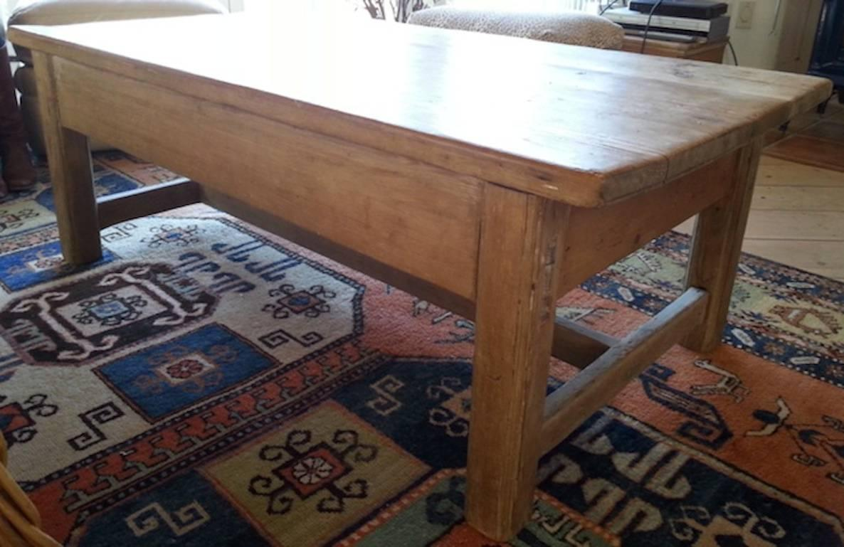 Pine coffee table new lower price for sale at 1stdibs for Interior design 02554