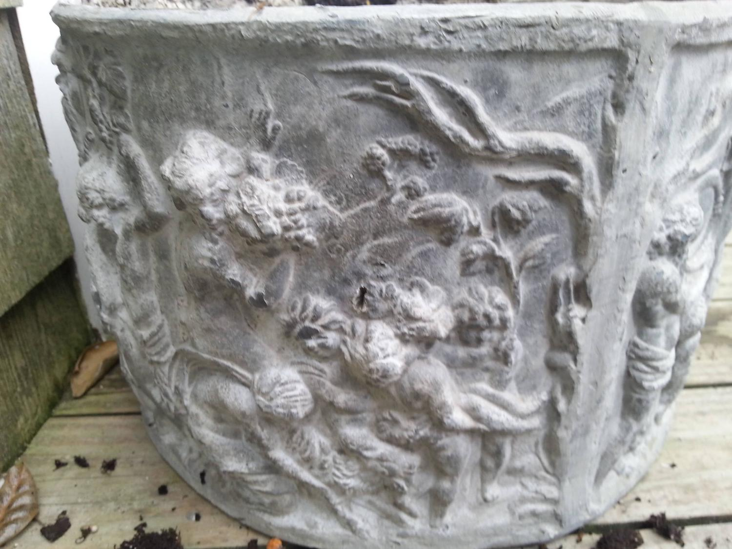 Circular lead planter for sale at 1stdibs