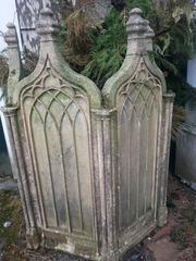 Gothic concrete planter