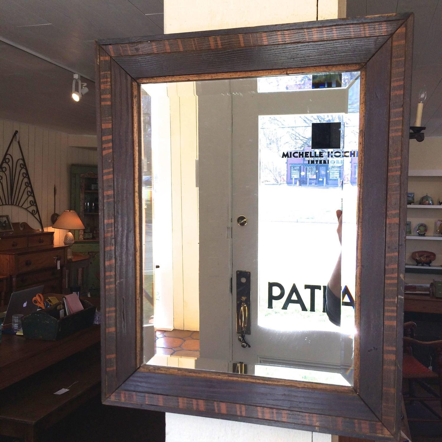 Faux painted wood mirror for sale at 1stdibs for Interior design 02554