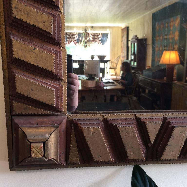 Tramp art mirror for sale at 1stdibs for Interior design 02554